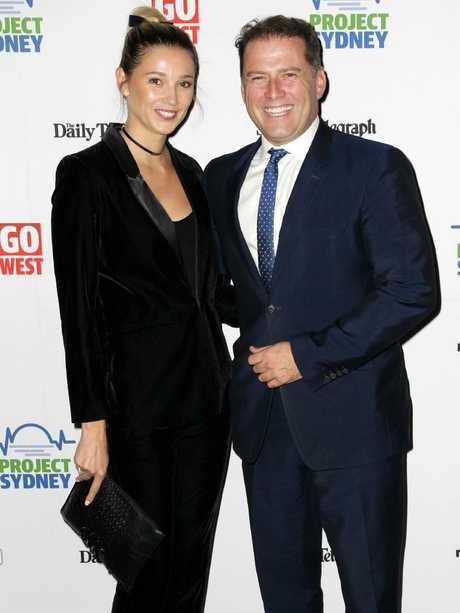Jasmine Yarbrough and Karl Stefanovic at the Project Sydney Dinner Gala held at the Bankstown Sports Club in Bankstown. Picture: Christian Gilles
