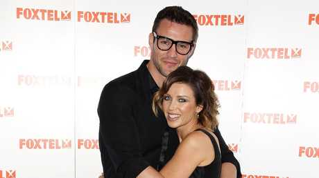 Dannii Minogue and Kris Smith back in 2011. Picture: Brendon Thorne