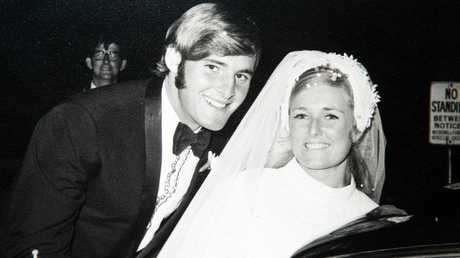 Lynette and Chris Dawson on their wedding day 26 March 1970.