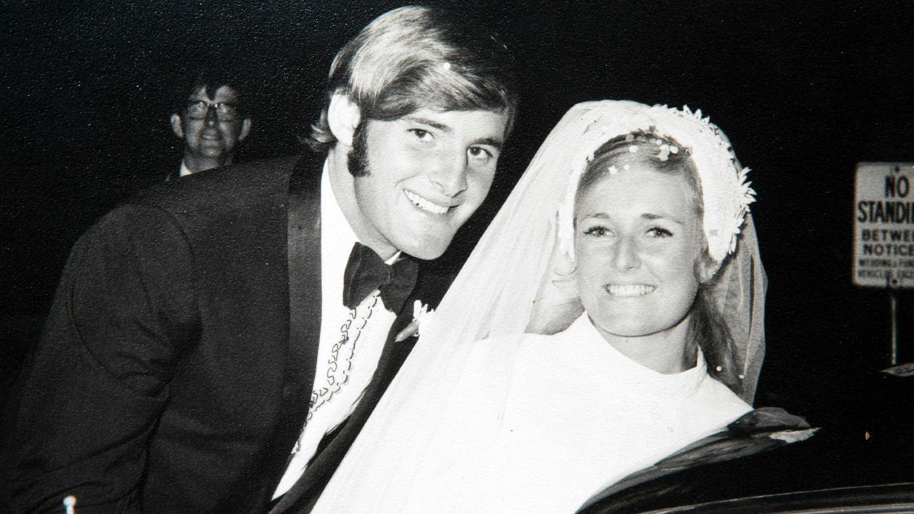 Lynette and Chris Dawson on their wedding day 26 March 1970.