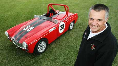 Steve Purdy and his MG racing car in 2010.