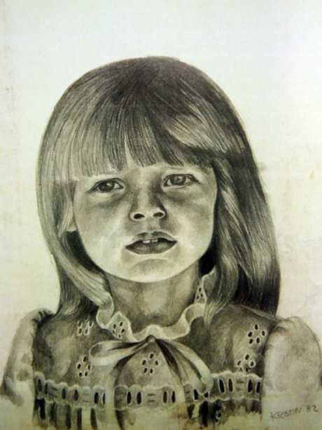A sketch of Sherryn Dawson at two year's of age.