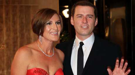 Karl Stefanovic with wife Cassandra Thorburn in happier times.
