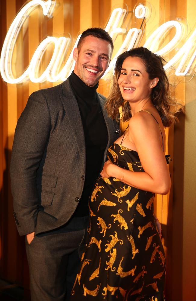 Kris Smith and Sarah Boulazeris have welcomed a beautiful baby girl. Picture: Matrix Media