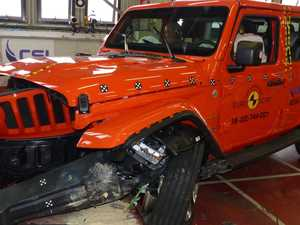 Shock crash test result for Jeep