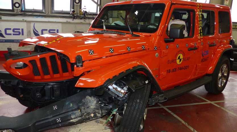 The new Jeep Wrangler has performed poorly in overseas crash tests. Picture: Supplied.