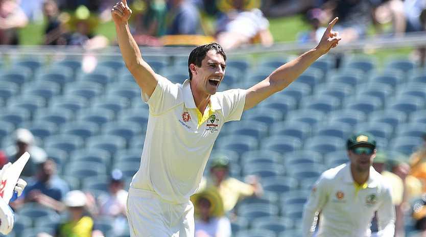Pat Cummins starred for Australia.  (AAP Image/Dave Hunt)