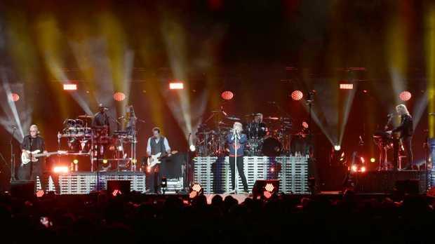 Bon Jovi, in concert at Suncorp Stadium, Brisbane, on Thursday December 6, 2018. Picture: AAP Image/Steve Pohlner