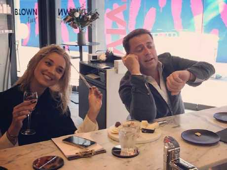 Jasmine Yarbrough and Karl Stefanovic ham it up for the camera in May 2017. Picture: Instagram