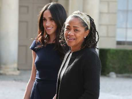 Meghan and her mum Doria on the night before her wedding to Prince Harry. Photo: Steve Parsons — Pool/Getty Images