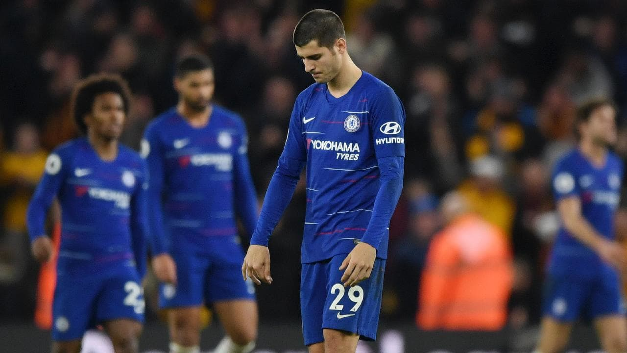 Alvaro Morata of Chelsea reacts. (Photo by Shaun Botterill/Getty Images)