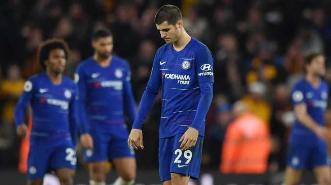 Alvaro Morata of Chelsea reacts. (Photo by Shaun Botterill/Getty Images)