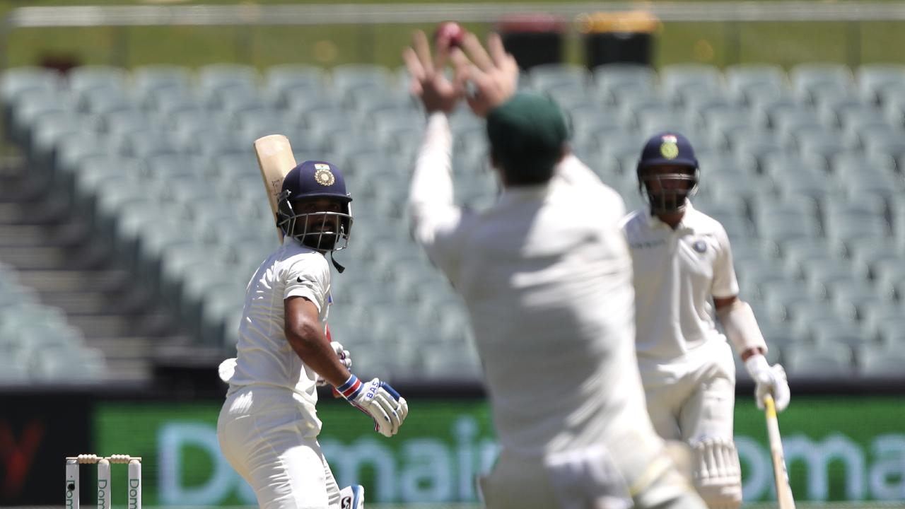 Michael Vaughan has taken aim at India's irresponsible batting on day one of the first Test in Adelaide.
