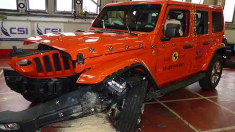 Euro NCAP says the Jeep Wrangler performed poorly in crash tests. Picture: Supplied.