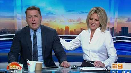 Karl Stefanovic was busted slagging-off his co-host Georgie Gardner.