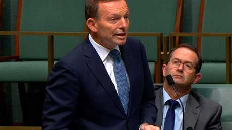 Tony Abbott speaking in parliament.