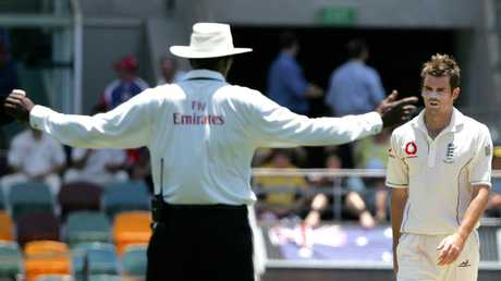 Jimmy Anderson bowls a rare bad one at the Gabba.