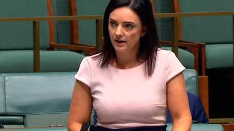 Emma Husar speaking in parliament.