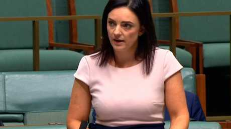 Emma Husar speaking in parliament.