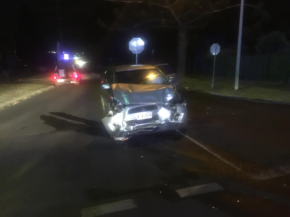 Car crashed on Jellicoe St. Photo: 7 News Toowoomba