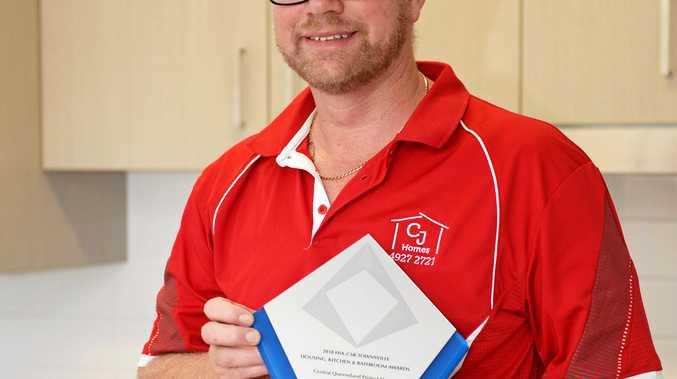 CJ Homes wins award, Steve O'Hanlon.