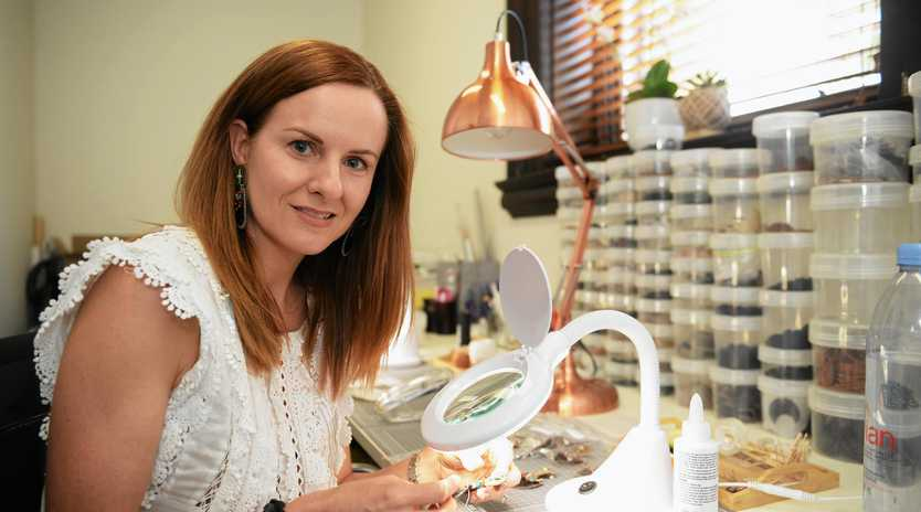 CREATIVE WORK: Jade Howard-Smith owner of Two green stones jewellery label.