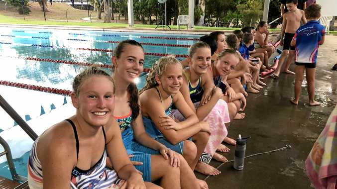 FUN TIMES AT CLUB: The swimmers take a break from the pool at the Cannonvale Cannons club night on November 28. It has been a big 2018 for the Cannons and 2019 promises to be even bigger.
