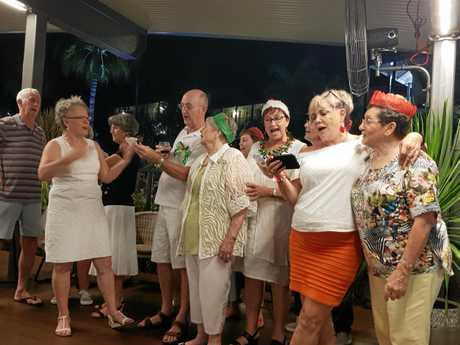 The Mackay Crooners displayed their dulcet tones on a great night of fun at the Airlie Beach Congress last weekend.