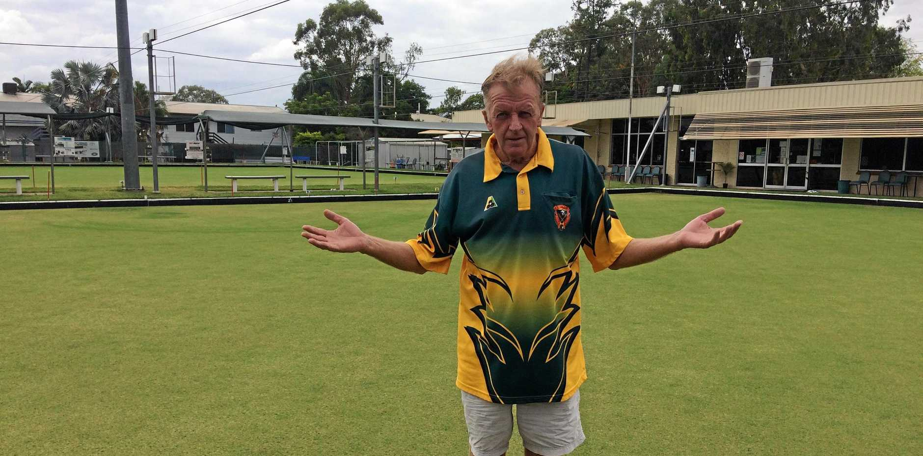 IN YOUR HANDS: Emerald Bowls Club's Mark Gallagher.