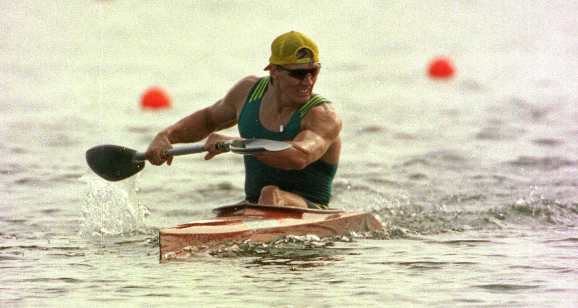 TALENTED: Clint Robinson during the 1996 Olympics at Lake Lanier.