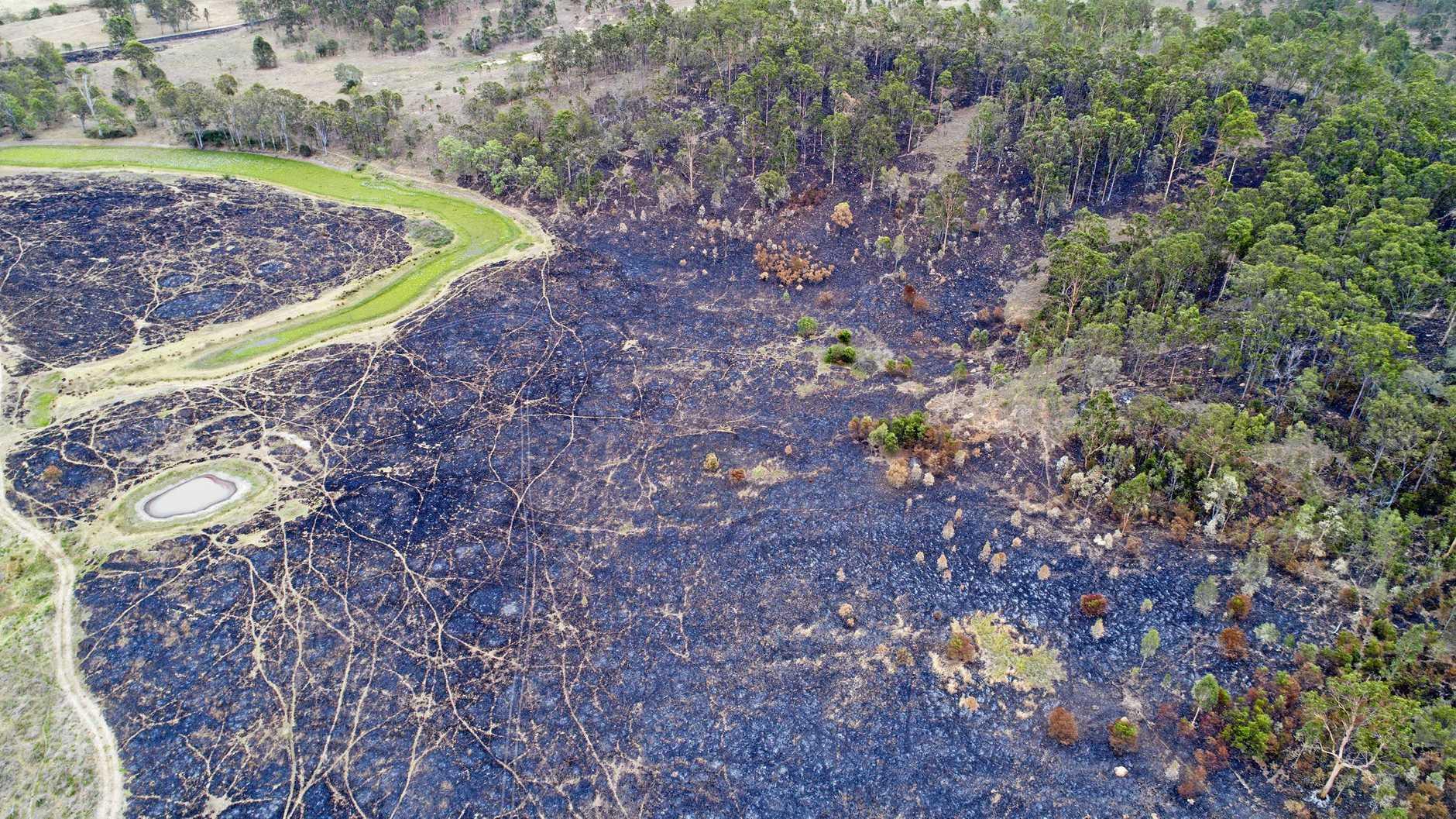 Flinders Peak bushfire.