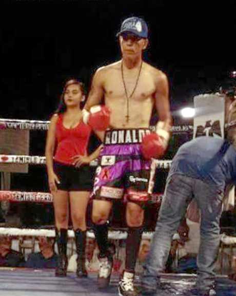 Steve Spark's March world title opponent Ronaldo Loco Castillo.