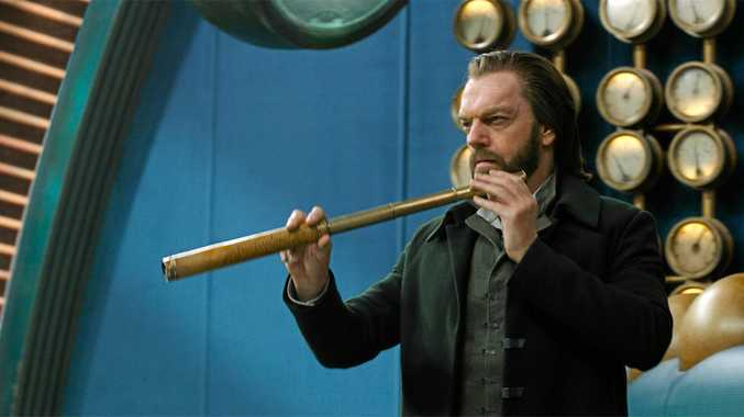 Hugo Weaving in a scene from the movie Mortal Engines. Supplied by Universal Pictures.