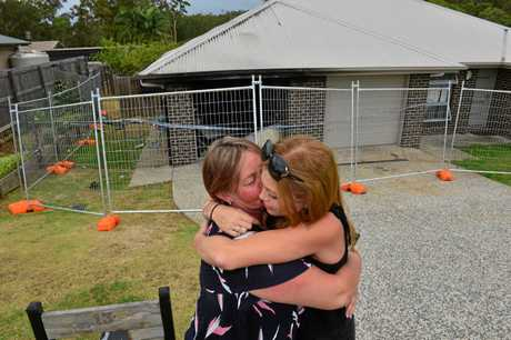 SAD LOSS: Fee and Nicki Hatch at their home in Beerwah that was destroyed by fire.