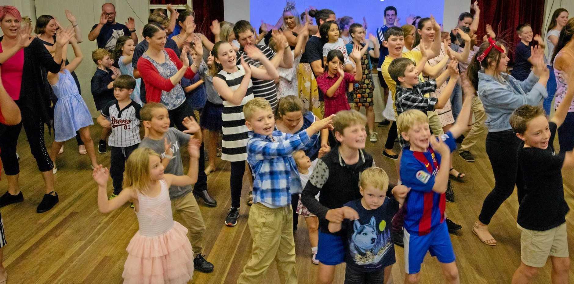FUN NIGHT: Ballandean students have a dance at awards night.