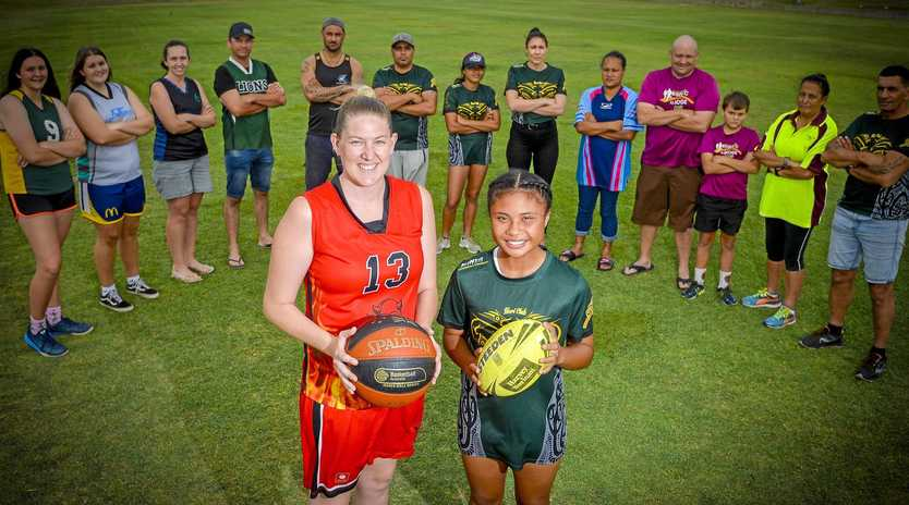 GRAND FINAL WEEKEND: Devilicious Red player Mirrin Rashleigh (left) and Lanaae Walker from the Hori Club Mixed team who will be playing grand finals this weekend in their respected sports.