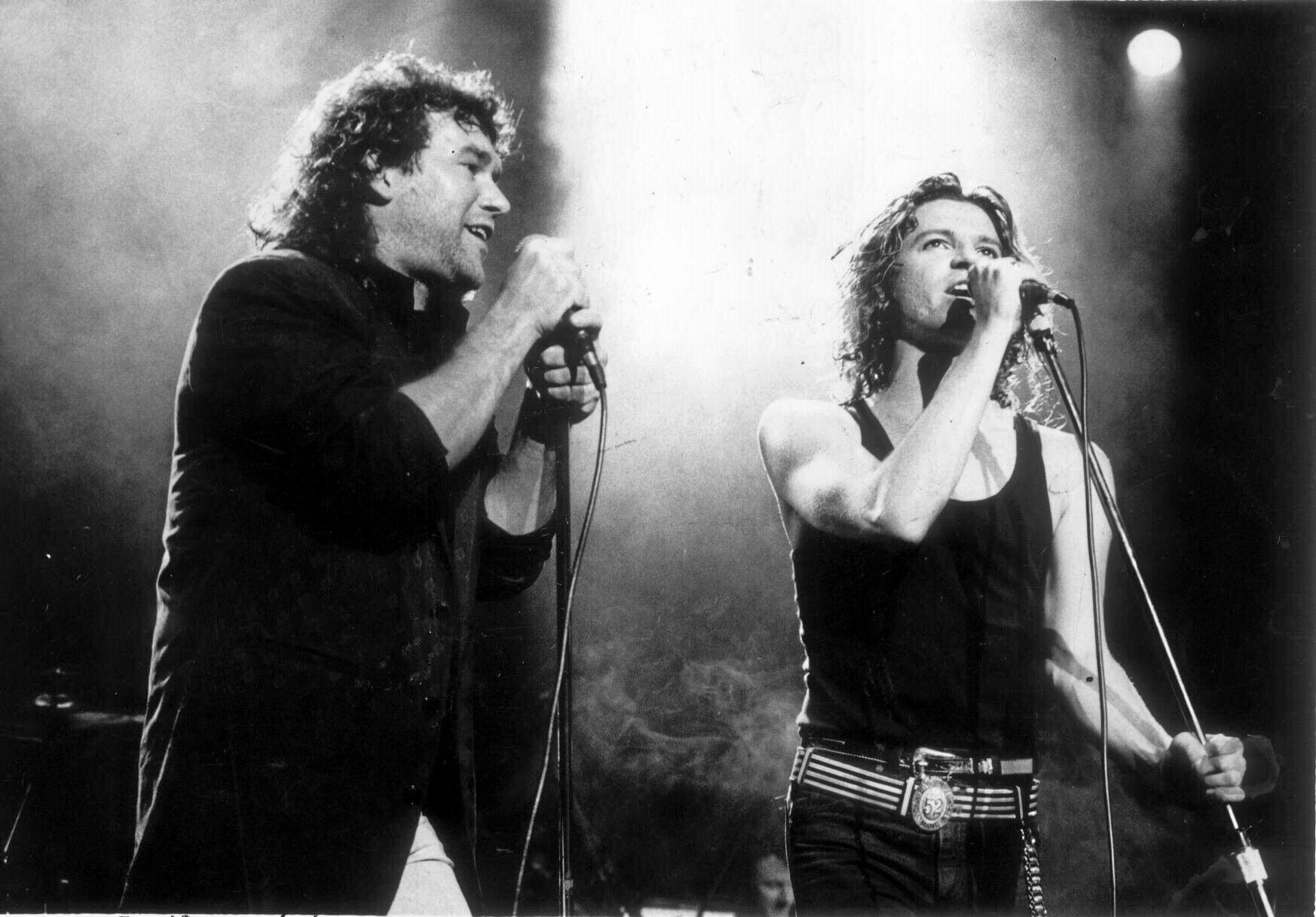 Jimmy Barnes and Michael Hutchence.
