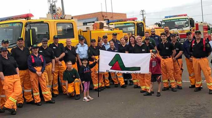 VOLUNTEER: RURAL Fire Service volunteers from around Bundaberg grouped together for the Pageant of Lights.