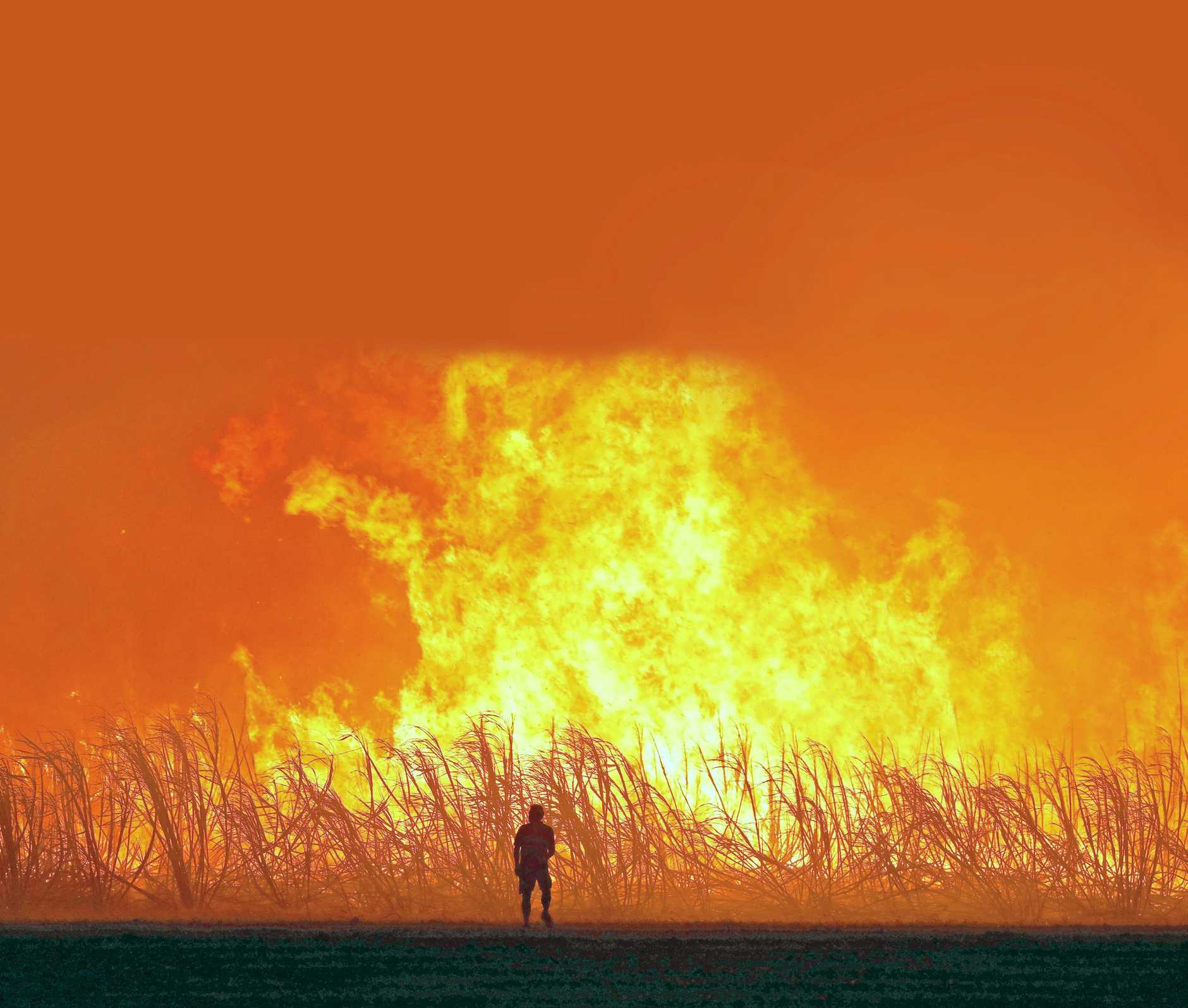 Stephen Ward took this incredible photo of a cane fire at Palmers Island last week.