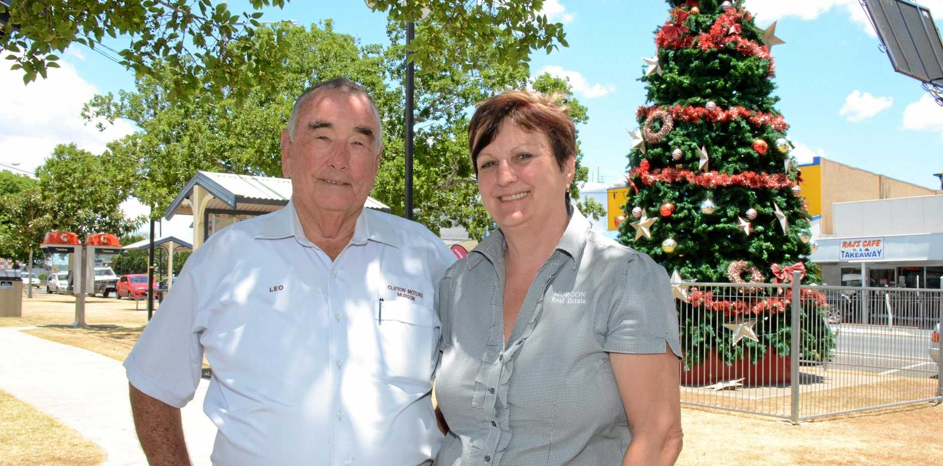 Leo Geraghty and Margaret Long are proud of the effort Murgon puts in during the lead up to the Christmas Fair.