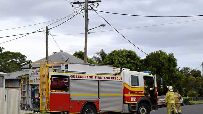Maryborough Fire Service were called to an fire in the electricity lines at the corner of Ann Street and Richmond Lane just after 5pm on Friday, December 7.