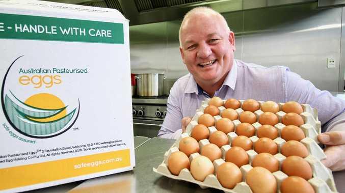 Australian Pasteurised Eggs commercial director Geoff Sondergeld.