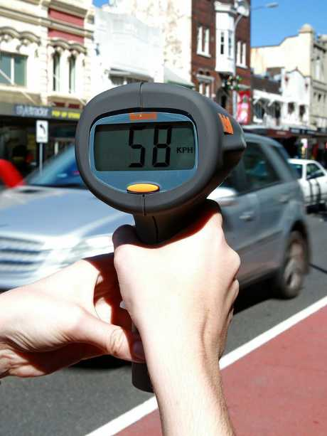 It was a similar story in Paddington where cars were clocked driving well above 40km/h. Picture: Toby Zerna