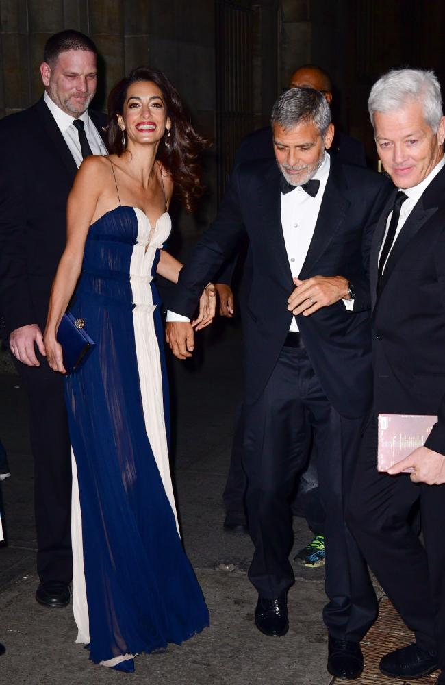 Amal looked happy and relaxed for the big night. Picture: James Devaney/GC Images