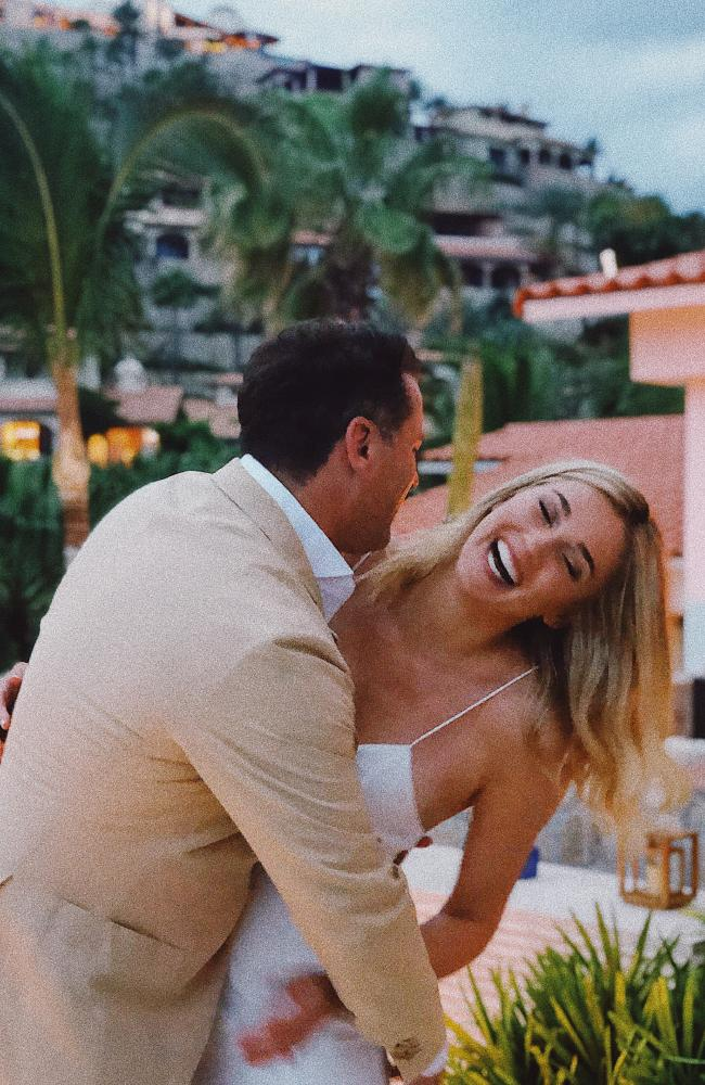 Karl Stefanovic and Jasmine Yarbrough in the lead up to their wedding to be held in Mexico. Picture: Tristan Houghton