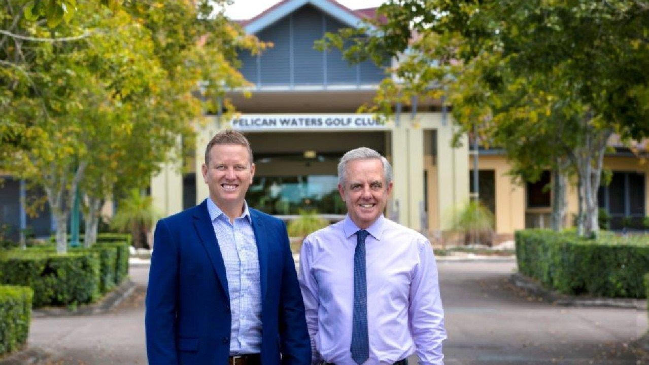 CBRE's Brendan Robins and Rem Rafter who brokered the sale of the Pelican Waters Golf Course and its adjoining development site.