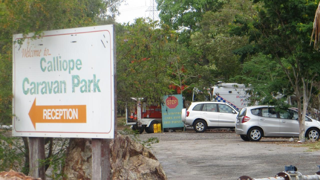 Police have set up a crime scene at the Calliope Caravan Park.