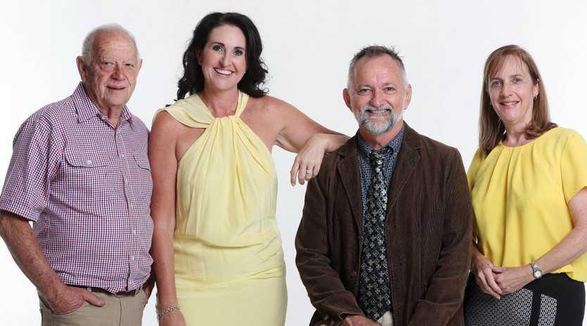 Pride of Australia medallists Lex Petersen, Rochelle Courtenary, John Hadok and Vanessa Fowler. Picture: Tara Croser