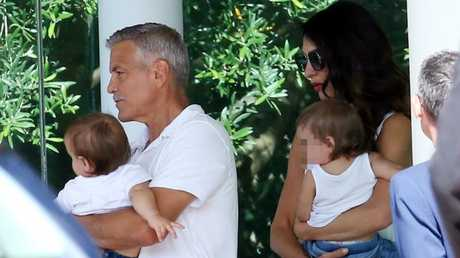 The cute family in Italy in June. Picture: Backgrid
