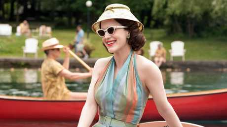 Rachel Brosnahan was nominated for a Globe for her lead role in The Marvelous Mrs. Maisel. Picture; Nicole Rivelli/Amazon